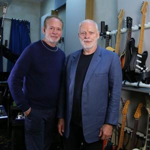 David Gilmour and Phil Manzanera at Medina Studios, Hove, England on 26th Augusst 2015